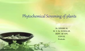 News Update on Phytochemical Screening Research: May – 2019