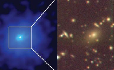 Sprawling galaxy cluster found hiding in plain sight